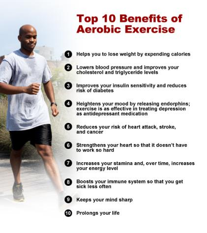 Top 10 Benefits of Aerobic Exercise
